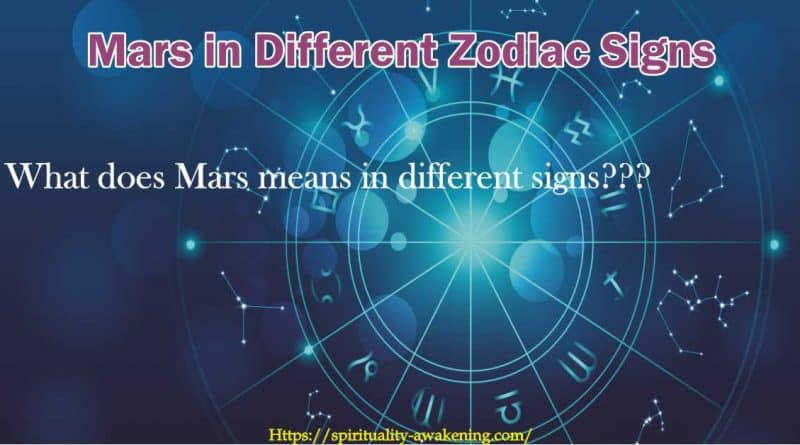 Mars in different zodiac signs