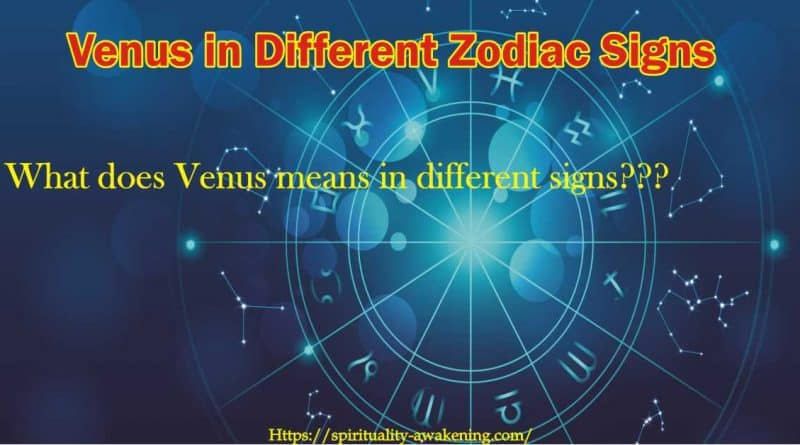 venus in different zodiac signs